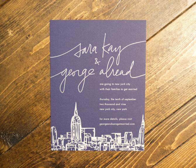 best wedding invitations nyc. wedding shopping in new york city,