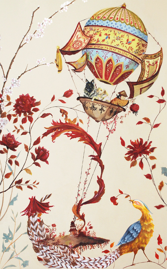 Chinoiserie wall mural clara yee for Chinoiserie mural wallpaper