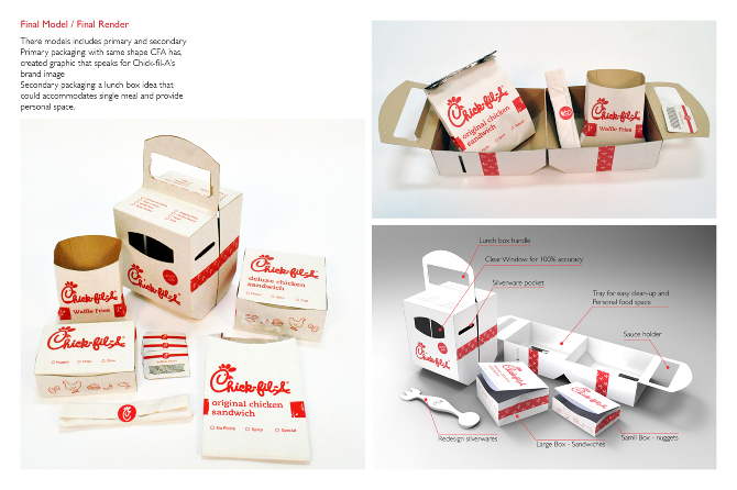 Chick fil a packaging industrial graphic interface for Industrial design packaging